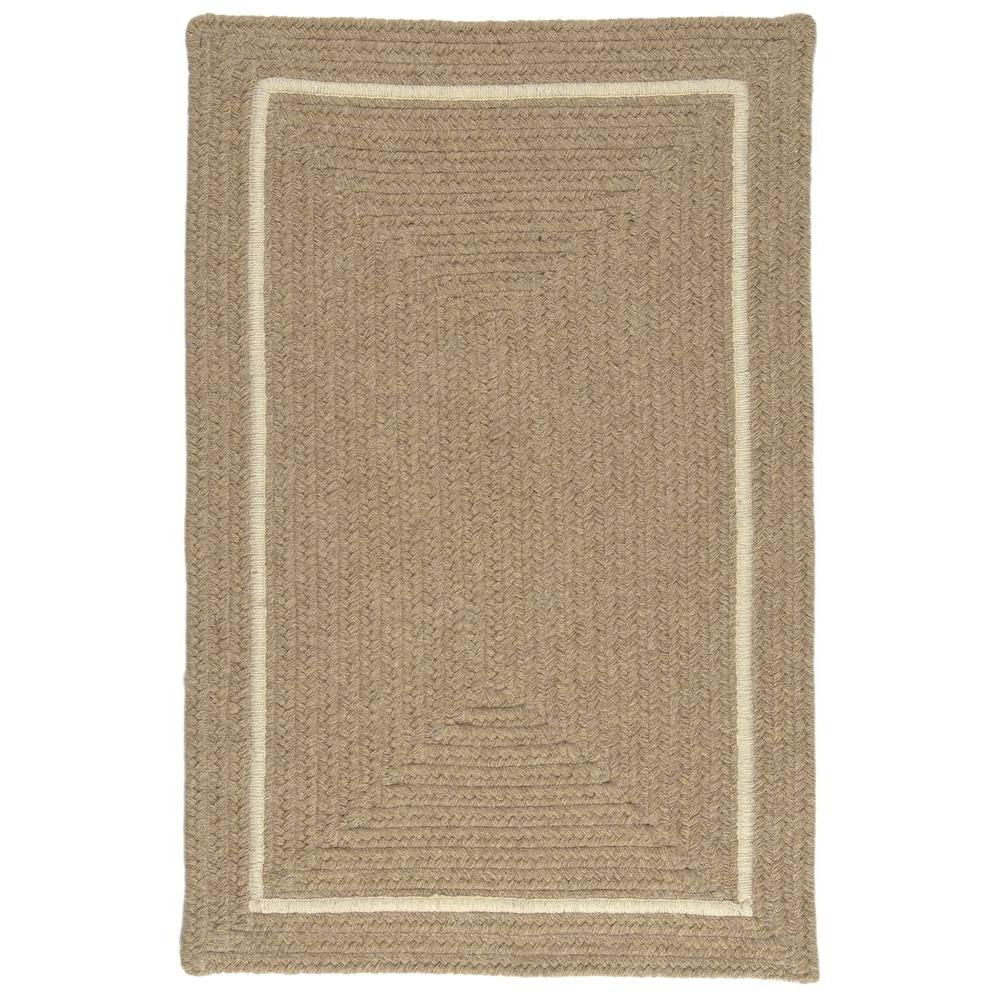 Home Decorators Collection Natural Beige 2 ft. x 4 ft. Braided Accent Rug