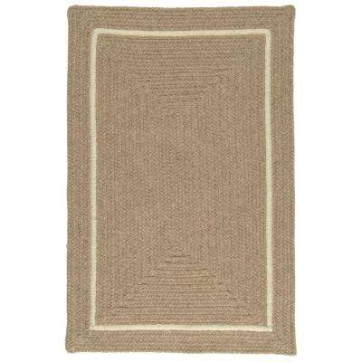 Natural Beige 7 ft. x 9 ft. Rectangle Braided Area Rug