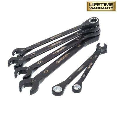 100-Position Double Ratcheting Wrench Set SAE (6-Piece)
