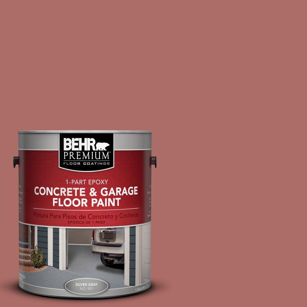 BEHR Premium 1 gal. #PFC-01 New England Brick 1-Part Epoxy Concrete and Garage Floor Paint