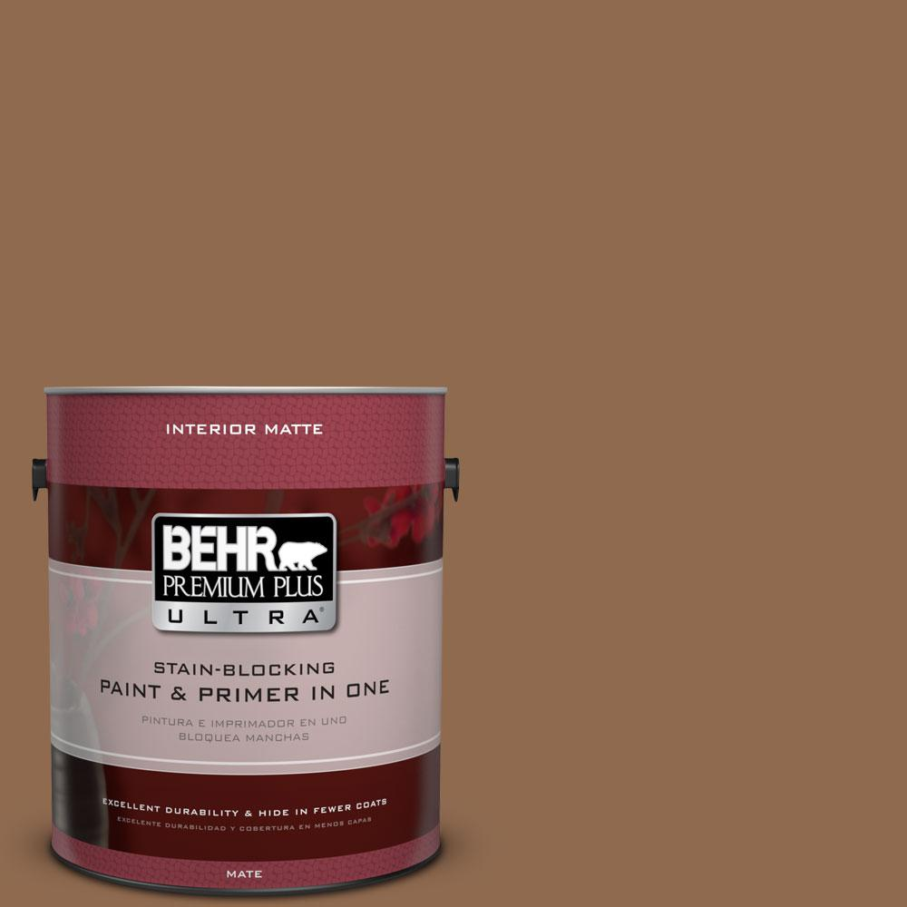 1 gal. #PPU4-1 Caramel Swirl Flat/Matte Interior Paint