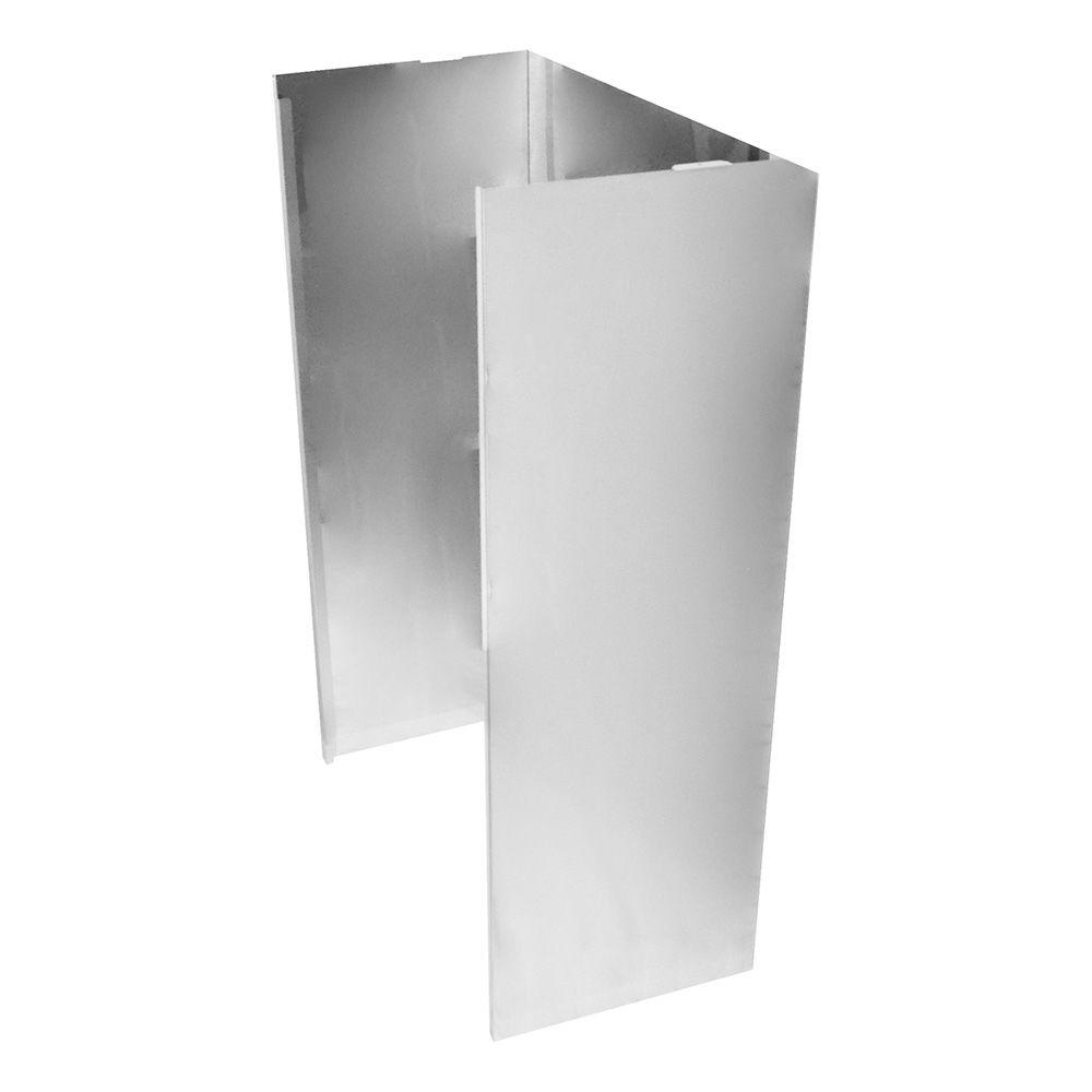 Unbranded Wall Hood Chimney Extension Kit In Stainless Steel Extkit20es The Home Depot