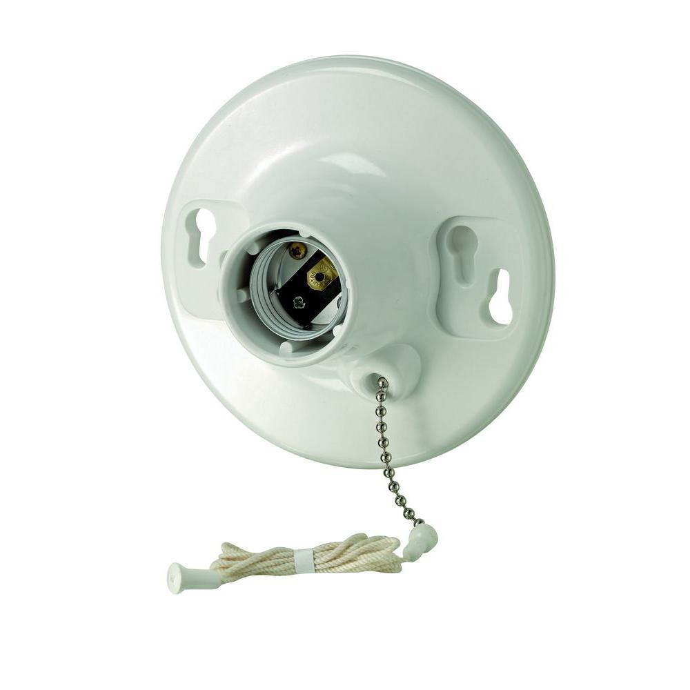 Leviton Plastic Pull-Chain Lampholder