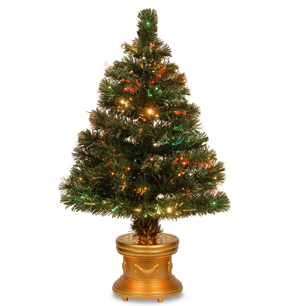 Tabletop Fibre Optic Christmas Tree: National Tree Company 3 Ft. Fiber Optic Radiance Fireworks