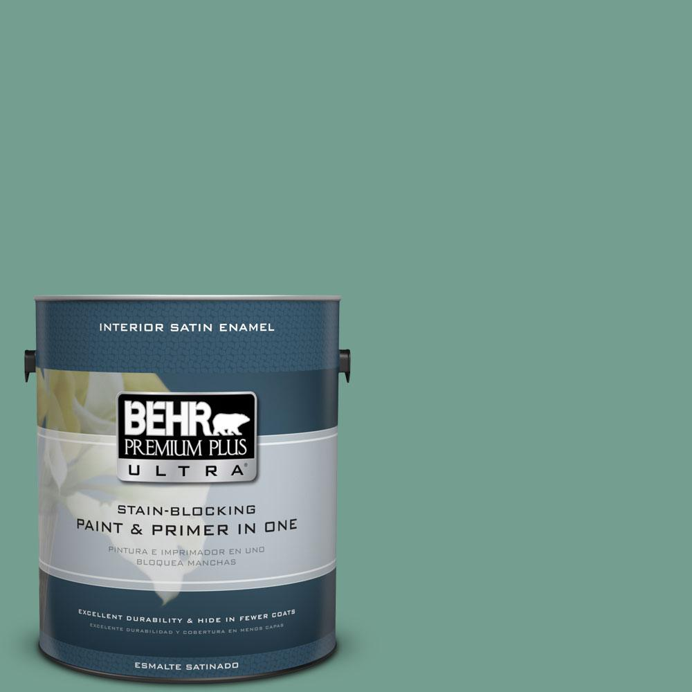 BEHR Premium Plus Ultra 1-gal. #M430-5 Regal View Satin Enamel Interior Paint
