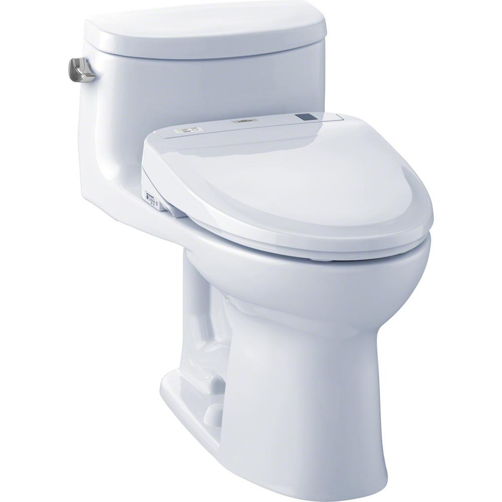 Surprising Toto Supreme Ii Connect 1 Piece 1 28 Gpf Elongated Toilet With Washlet S350E Bidet And Cefiontect In Cotton White Pabps2019 Chair Design Images Pabps2019Com