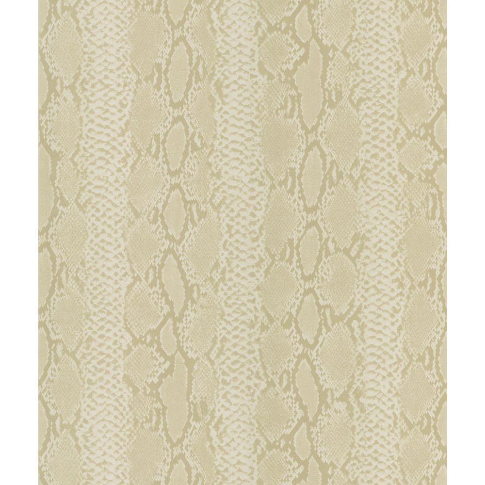 Beige Python Snake Skin Wallpaper Sample
