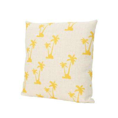Lucille Palm Trees 18 in. Square Outdoor Throw Pillow