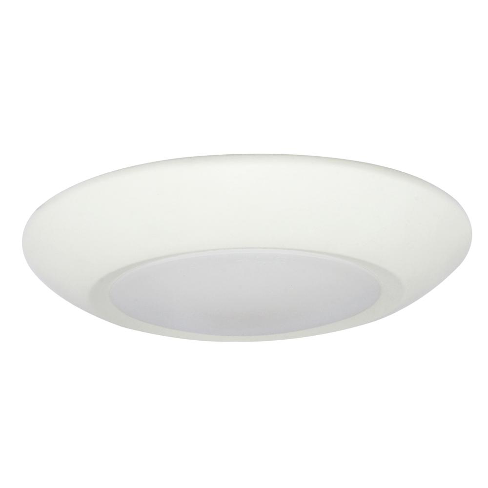 EnviroLite 4 in. White Integrated LED Recessed Ceiling or Surface Mounted Disk Light Trim