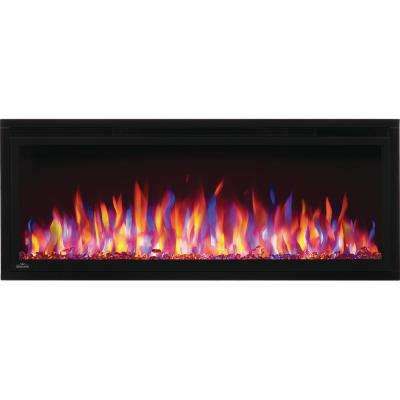 Entice 50 in. Wall-Mount Electric Fireplace in Black