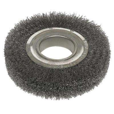 6 in. x 2 in. Arbor Hole Crimped Wire Wheel Brush