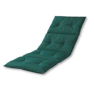 Solid Forest Green Outdoor Chaise Lounge Pad