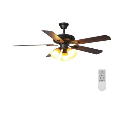 Glendale 52 in. LED Oil-Rubbed Bronze Ceiling Fan with Light and WiFi Remote Control works with Google and Alexa