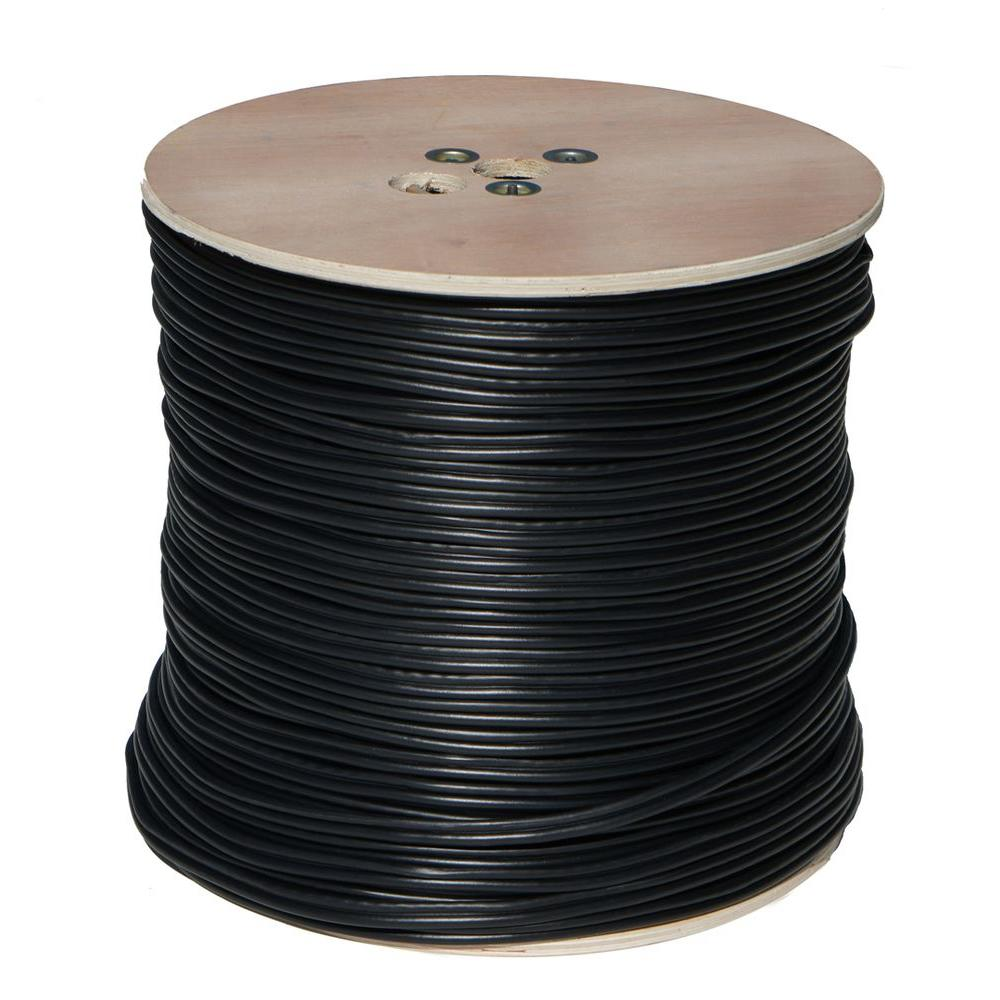 1000 ft. RG59 Closed Circuit TV Coaxial Cable with 18/2 P...