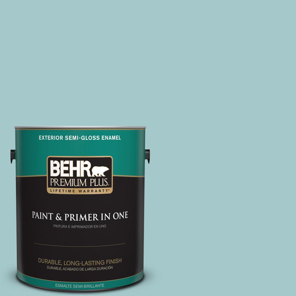 1 gal. #PPU13-10 Ocean Boulevard Semi-Gloss Enamel Exterior Paint