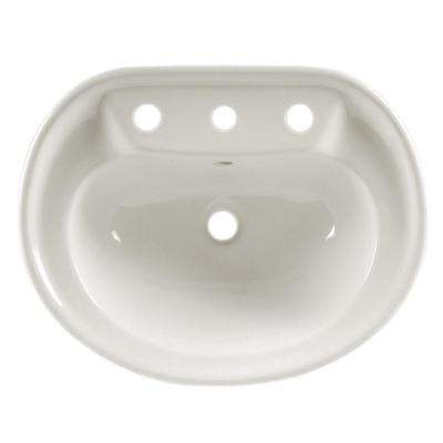 Savona Drop-In Bathroom Sink in White
