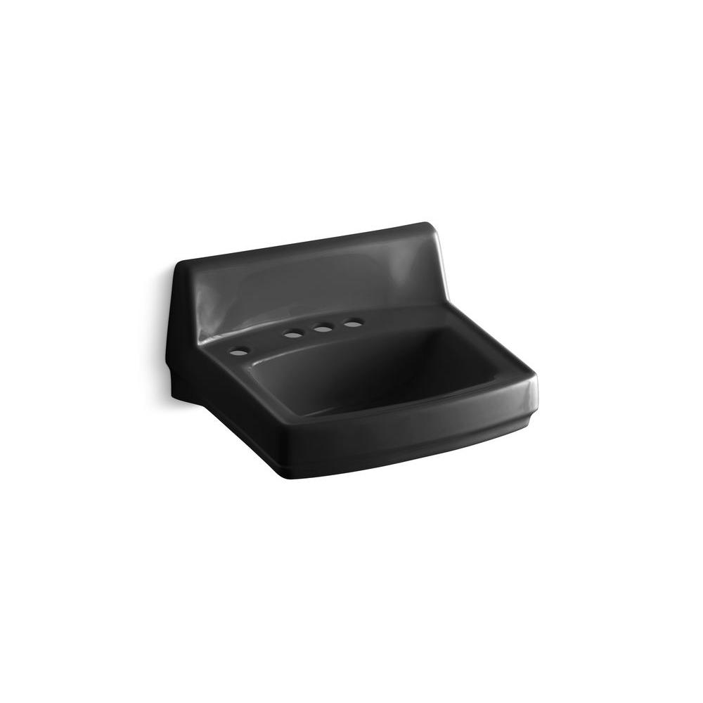 Kohler Greenwich Wall Mount Bathroom Sink In Black Black K