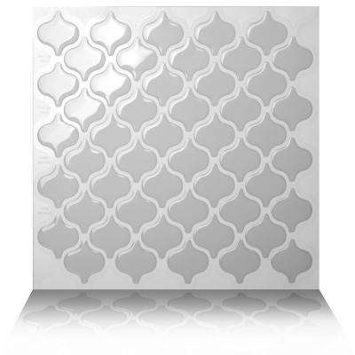 Damask Grigio 10 in. W x 10 in. H Light Gray Peel and Stick Decorative Mosaic Wall Tile (10-Tiles)