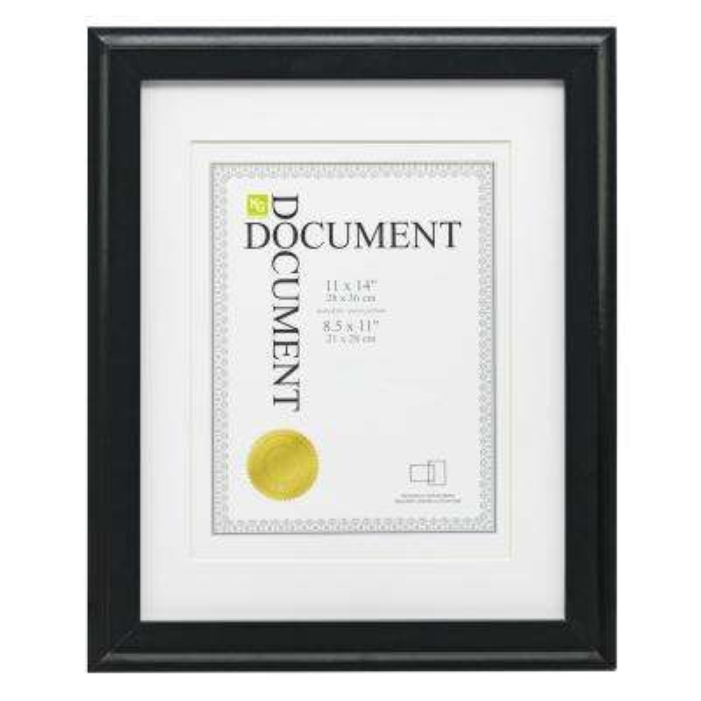 Black kieragrace KG Oxford Document Picture Frame
