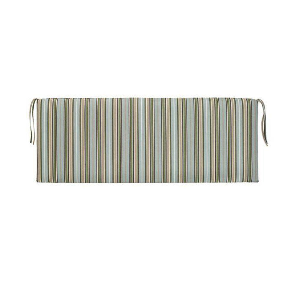 Home Decorators Collection Sunbrella Cilantro Stripe Outdoor Bench Cushion