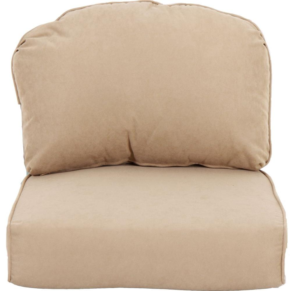 Martha Stewart Living Lily Bay Oatmeal Replacement Outdoor Chair Cushion
