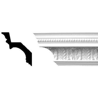 4-3/4 in. x 4-1/4 in. x 94-1/2 in. Leaf and Beads Polyurethane Crown Moulding