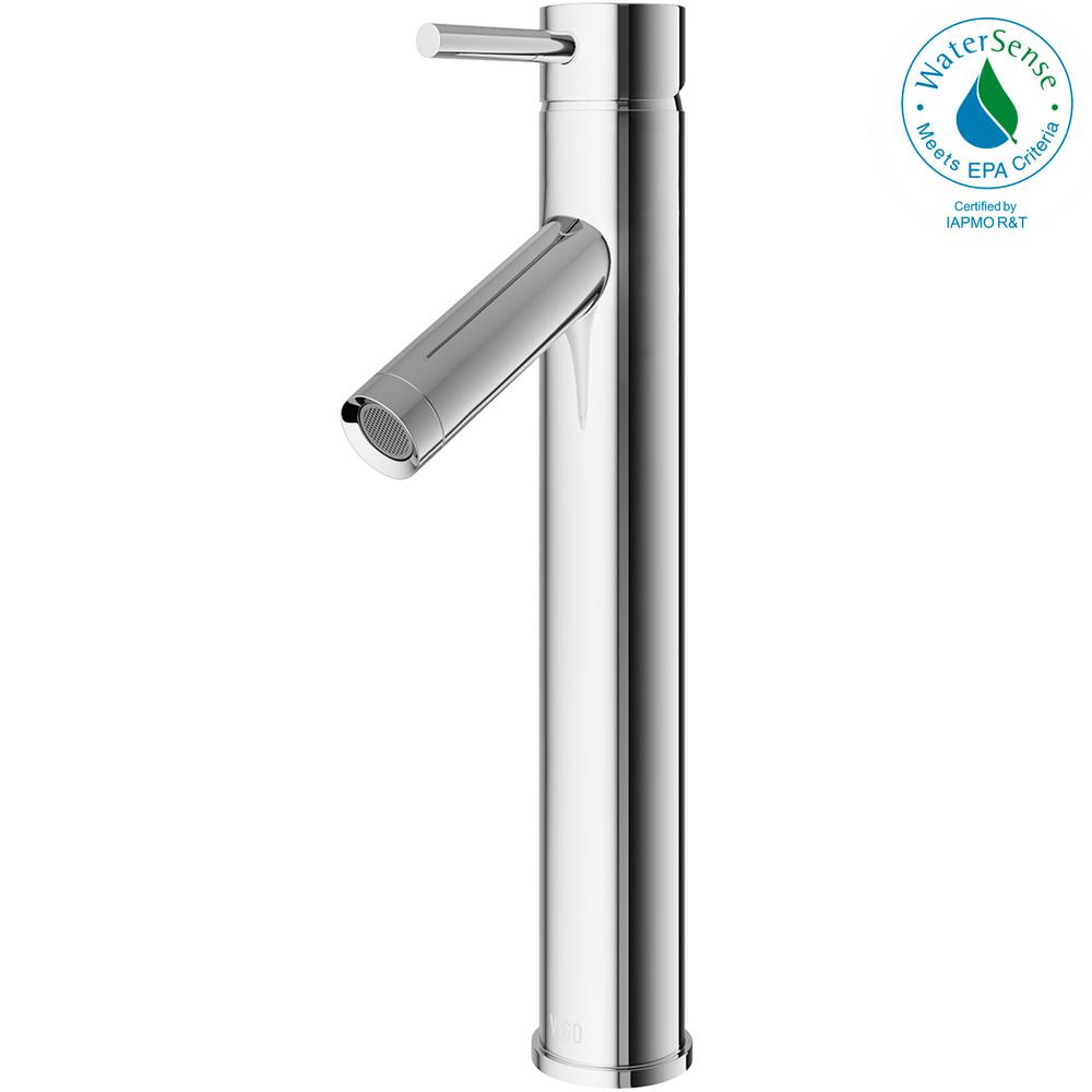 vigo bathroom faucets. VIGO Single Hole Single-Handle Vessel Bathroom Faucet In Chrome Vigo Faucets O