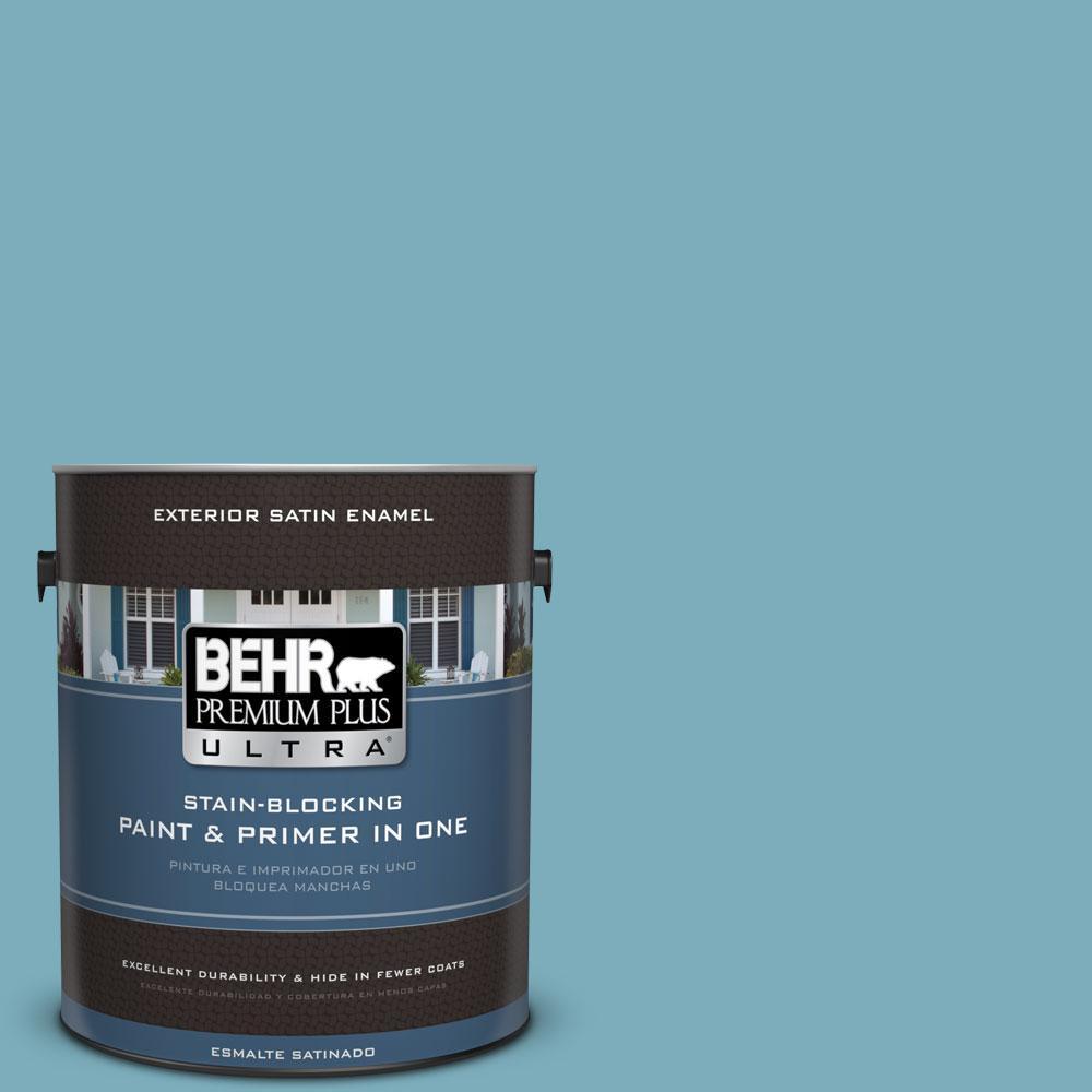 BEHR Premium Plus Ultra 1-gal. #520F-4 November Skies Satin Enamel Exterior Paint
