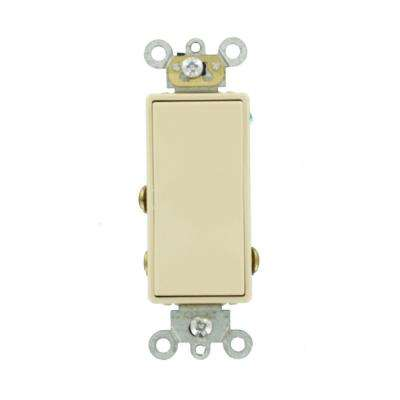 3 Amp Decora Plus Commercial Grade Single Pole Double Throw Center Off Rocker Switch, Ivory