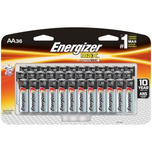 Energizer MAX Alkaline AA Battery (36-Pack)-E91SBP36H - The Home Depot
