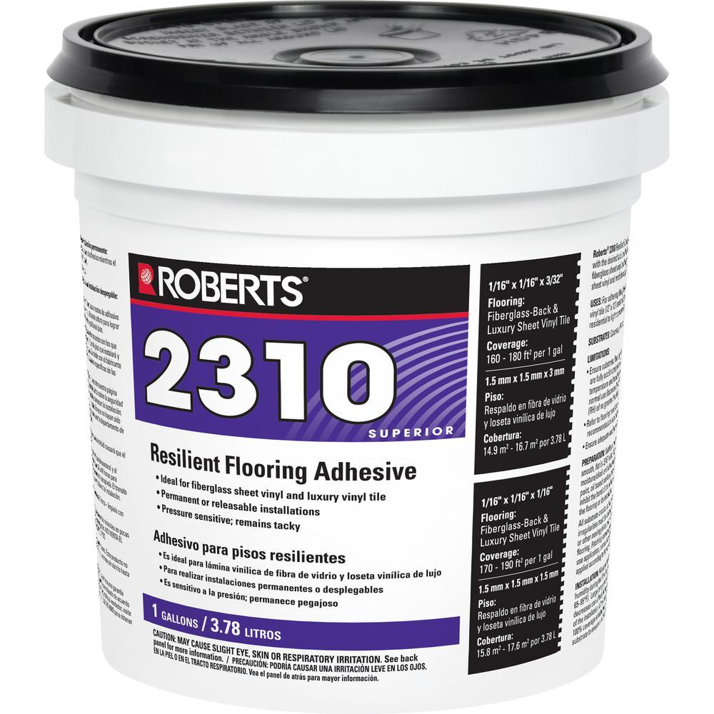Roberts 2310 1 Gal. Premium Fiberglass and Luxury Vinyl Tile Glue Adhesive- 2310-1 - The Home Depot