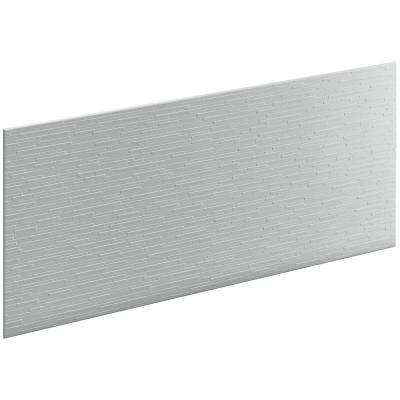 Choreograph 0.3125 in. x 60 in. x 28 in. 1-Piece Shower Wall Panel in Ice Grey with Stix Texture