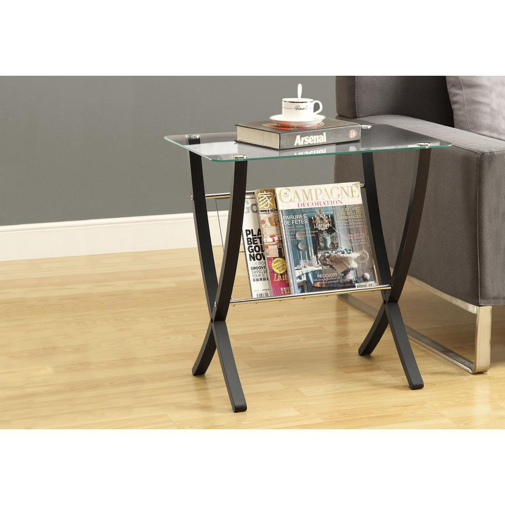 Bentwood Cappuccino Glass Top End Table