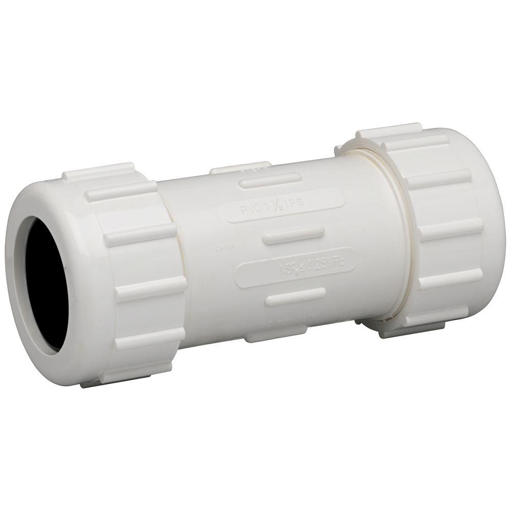 Homewerks Worldwide 2 in. PVC Compression Coupling