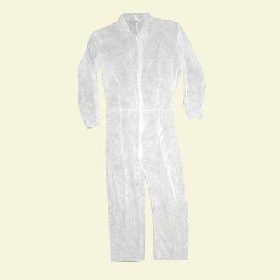 2XL Polypropylene Coverall with Elastic Back & Wrists