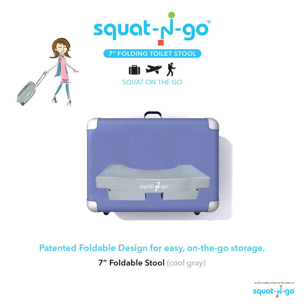 Stupendous Squat N Go 7 In Foldable Squatting Toilet Stool In Gray Cjindustries Chair Design For Home Cjindustriesco