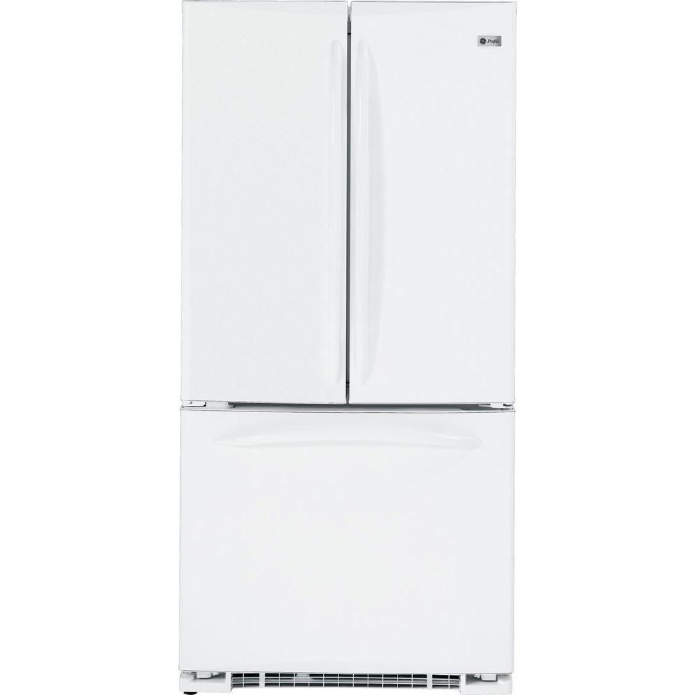 GE Profile 33 in. W 22.2 cu. ft. French Door Refrigerator in White