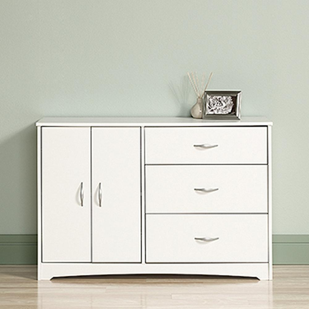 white bedroom dressers. Beginnings 3 Drawer Soft White Dresser  Dressers Chests Bedroom Furniture The Home Depot