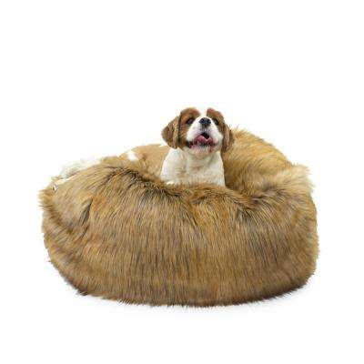 Large Ombre Faux Fur Puff Ball