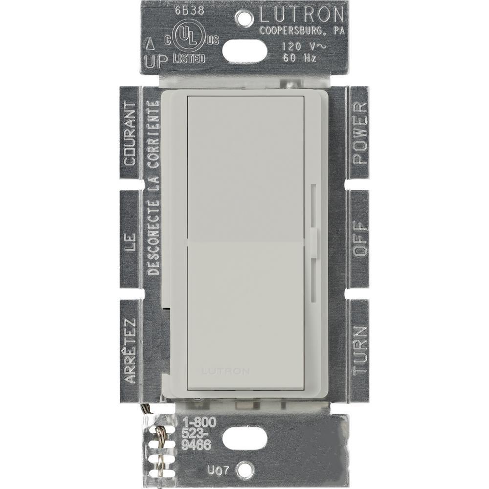 Lutron Diva 1.5 Amp Single-Pole/3-Way 3-Speed Fan Control, Palladium