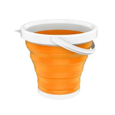 Collapsible Multi-use Portable Camping Bucket in Orange