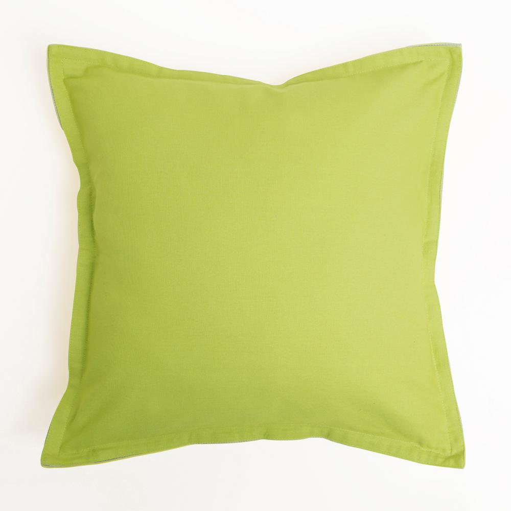 Best Home Fashion Yellow And Green 2 Tone Canvas Decorative Pillow