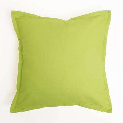 Yellow and Green 2-Tone Canvas Decorative Pillow