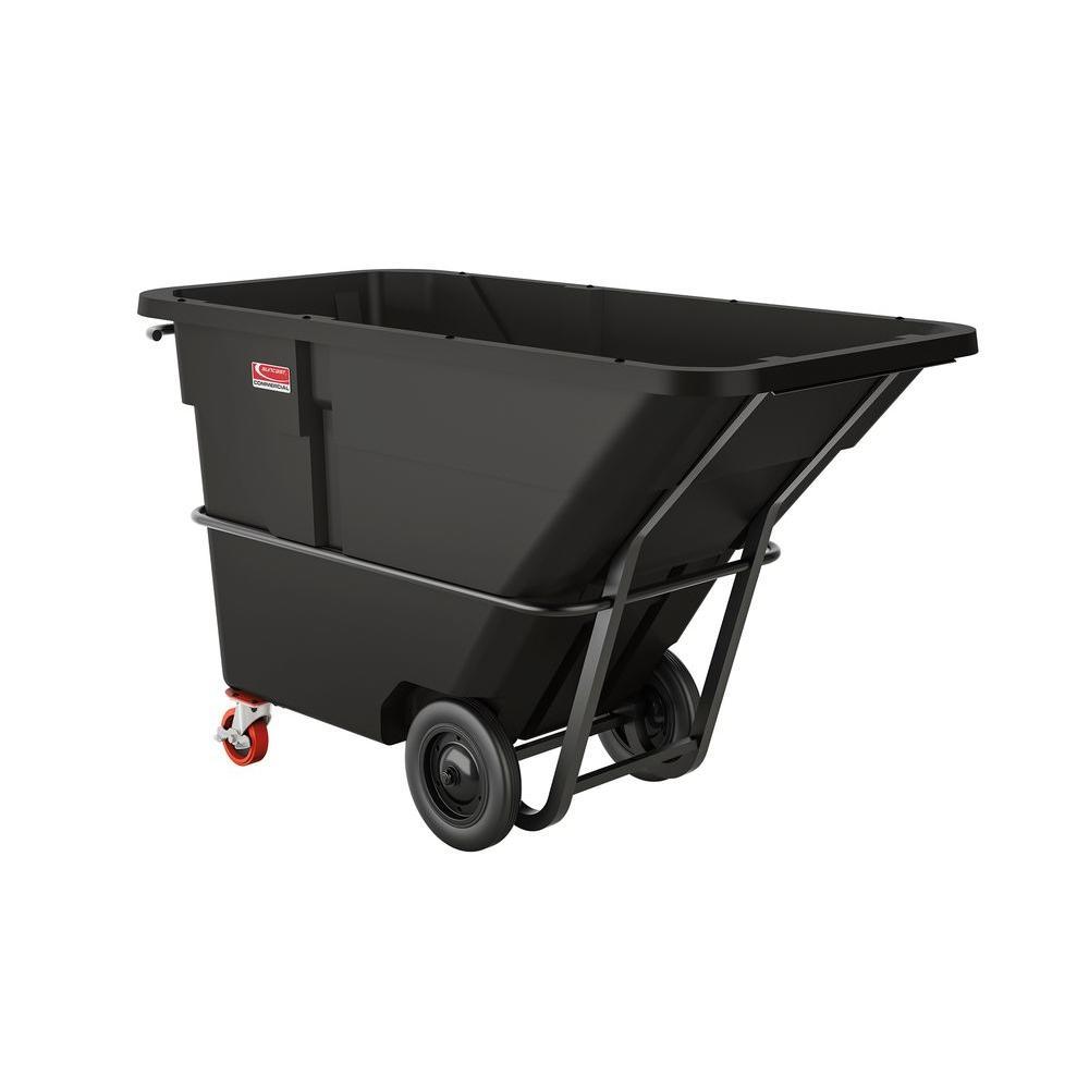 Suncast Commercial 2200 lb. Capacity 1-1/2 Yard Heavy-Duty Forkliftable/Towable Tilt Truck