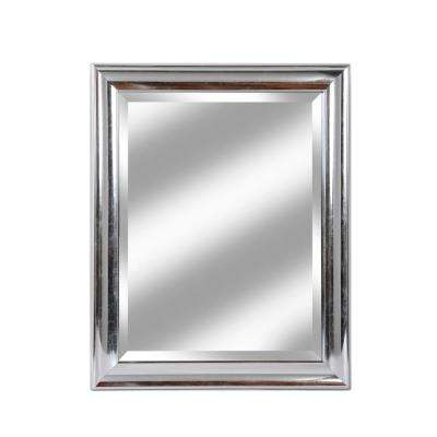 Concept 28 in. x 34 in. Silver Framed Beveled Mirror