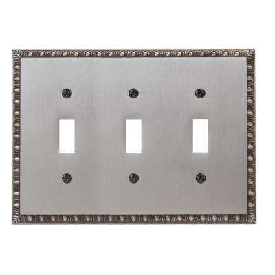 Renaissance 3 Toggle Wall Plate - Antique Nickel