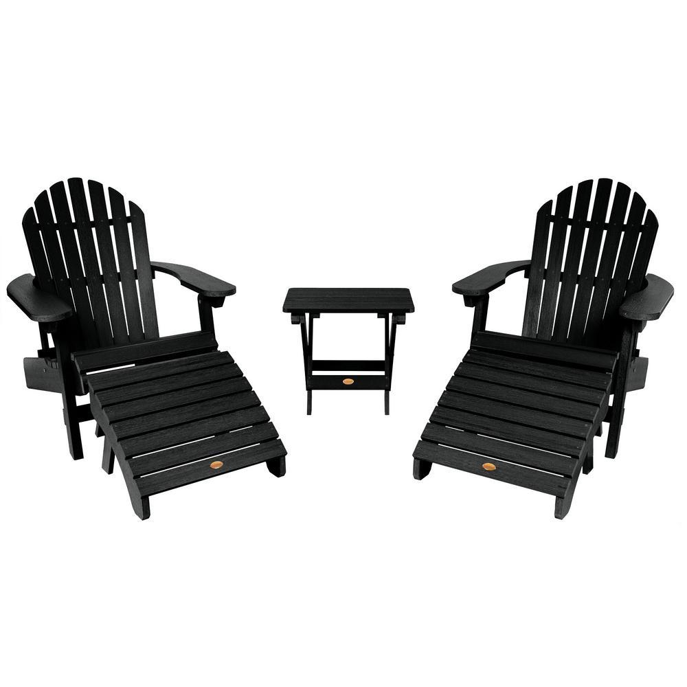 Hamilton Black 3-Piece Recycled Plastic Outdoor Conversation Set