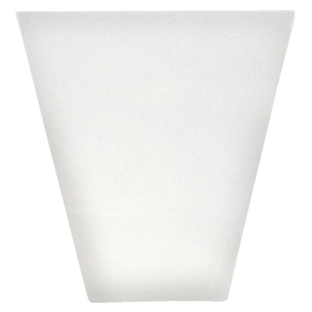 9 in. Flat Panel Window Header Keystone in 117 Bright White