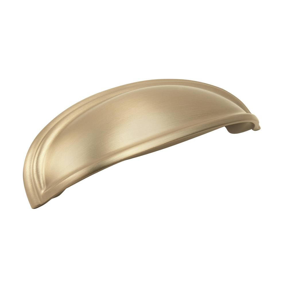 Amerock Ashby 4 in (102 mm) & 3 in (76 mm) Center-to-Center Golden Champagne Cabinet Drawer Cup Pull