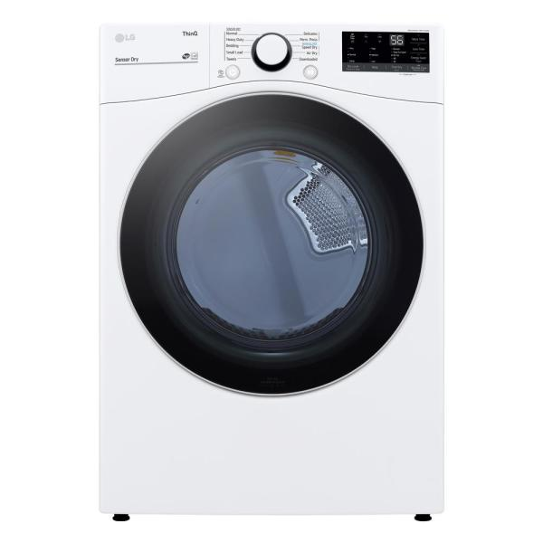 7.4 cu. ft. White Ultra Large Capacity Electric Dryer with Sensor Dry